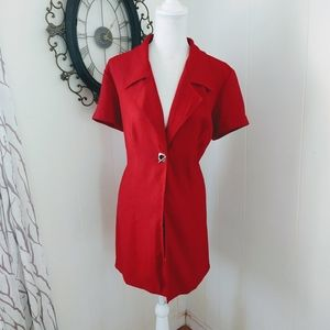 Vintage red button up 11/12